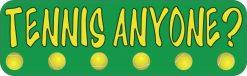 Tennis Anyone Vinyl Sticker