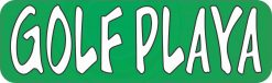 Golf Playa (Player) Vinyl Sticker