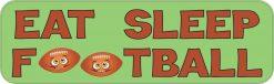 Eat Sleep Football Vinyl Sticker