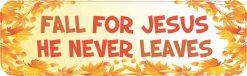 Fall for Jesus Vinyl Sticker