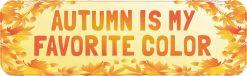 Autumn Is My Favorite Color Vinyl Sticker