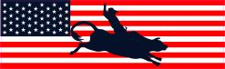 USA Flag Cowboy Vinyl Sticker