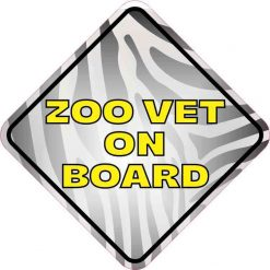 Zoo Vet on Board Vinyl Sticker