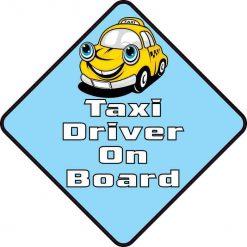Taxi Driver on Board Vinyl Sticker