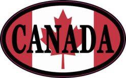 Flag Oval Canada Vinyl Sticker