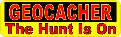 The Hunt Is On Geocacher Vinyl Sticker