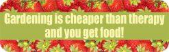 Gardening Cheaper Than Therapy Vinyl Sticker