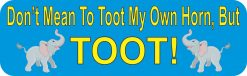 Elephant Toot My Own Horn Magnet