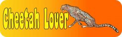 Cheetah Lover Vinyl Sticker