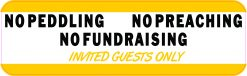 No Peddling Preaching Fundraising Magnet