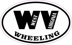 Oval WV Wheeling Vinyl Sticker
