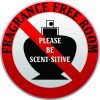 Scent-sitive Fragrance Free Room Vinyl Sticker