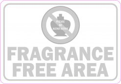 Grayscale Fragrance Free Area Vinyl Sticker