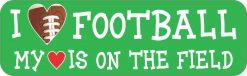 I Love Football Vinyl Sticker
