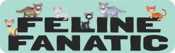Feline Fanatic Vinyl Sticker