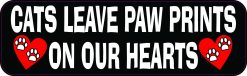 Cats Leave Paw Prints on Our Hearts Vinyl Sticker
