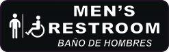 English Spanish Handicap Accessible Mens Restroom Vinyl Sticker