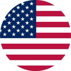 Circular American Flag Vinyl Sticker