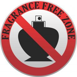 Fragrance Free Zone Vinyl Sticker
