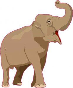 Elephant Vinyl Sticker