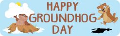 Happy Groundhog Day Magnet