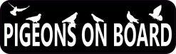 Pigeons on Board Vinyl Sticker