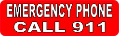 Emergency Phone Call 911 Vinyl Sticker