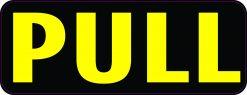 Pull Vinyl Sticker