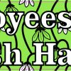 Green Floral Employees Must Wash Hands Vinyl Sticker