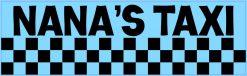 Blue Nana's Taxi Vinyl Sticker