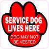 Service Dog Lives Here Magnet