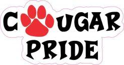 Red Cougar Pride Vinyl Sticker