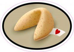 Love Fortune Cookie Vinyl Sticker