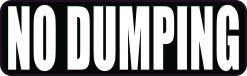 No Dumping Vinyl Sticker