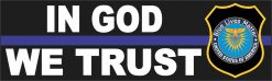 Thin Blue Line in God We Trust Magnet