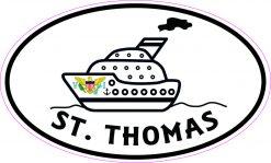 Cruise Ship Oval St Thomas Vinyl Sticker