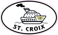Cruise Ship Oval St Croix Vinyl Sticker