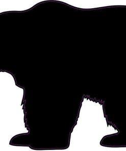 Left Facing Bear Silhouette Vinyl Sticker