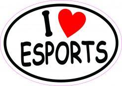 Oval I Love Esports Vinyl Sticker
