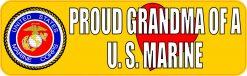 Proud Grandma of a U.S. Marine Vinyl Sticker