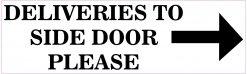 Right Arrow Deliveries to Side Door Vinyl Sticker