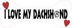 Dog Bone I Love My Dachshund Vinyl Sticker