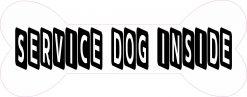 Bone-Shaped Service Dog Inside Vinyl Sticker