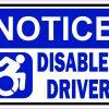 Dynamic Symbol Notice Disabled Driver Vinyl Sticker