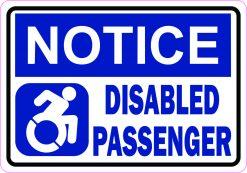 Dynamic Symbol Notice Disabled Passenger Vinyl Sticker