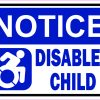 Dynamic Symbol Notice Disabled Child Vinyl Sticker
