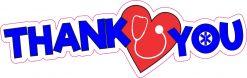 Medical Staff Thank You Vinyl Sticker