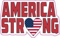 America Strong Vinyl Sticker