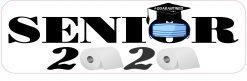 Quarantined Senior 2020 Vinyl Sticker
