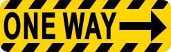 Right Arrow One Way Vinyl Sticker